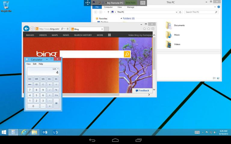 clean desktop