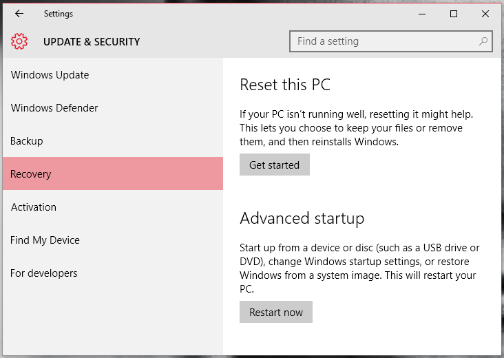 Reset Your PC / Reinstall Windows