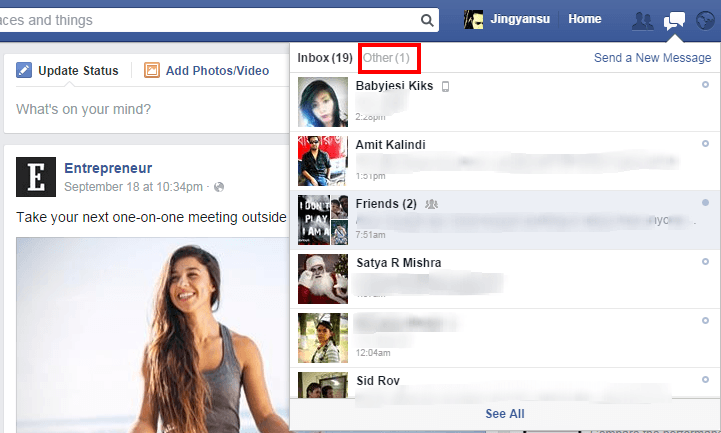 how to see unread notifications on facebook