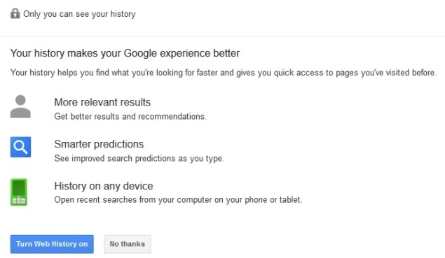 disable search history in google