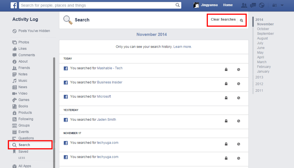 How To Delete Facebook Search History (100%) Working