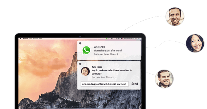 calls and messages on desktop using AirDroid