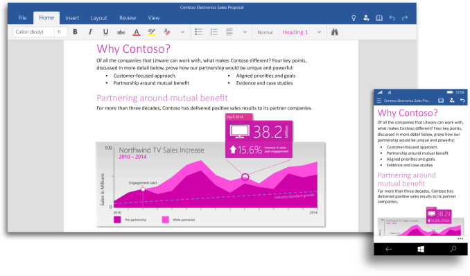 contoso in Windows 10
