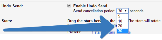 cancellation time in gmail account