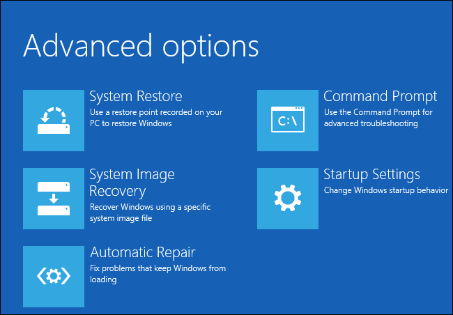 advanced system backup in windows10