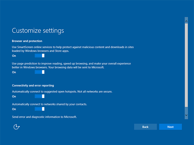 windows 10 broswer protection setting