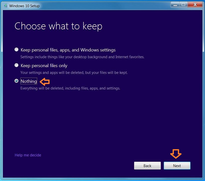 how to use recovery clean installation flash drive windows 10