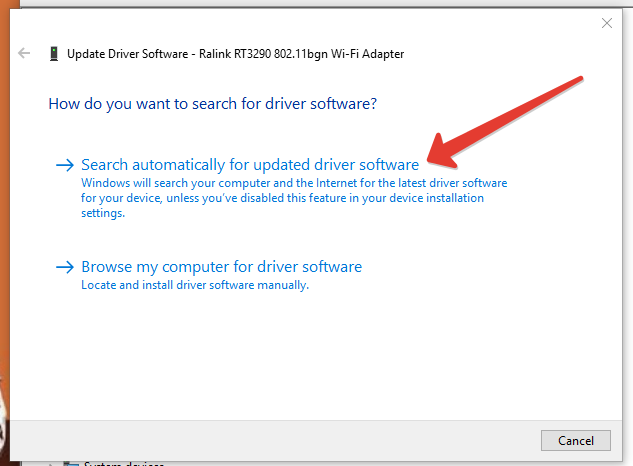 update device drive software in windows 10