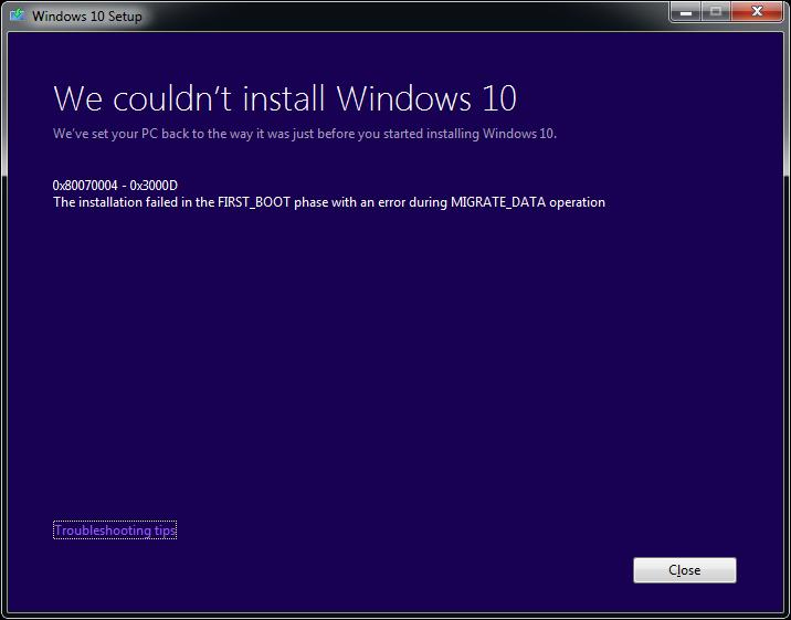How to fix Error 0x80070004