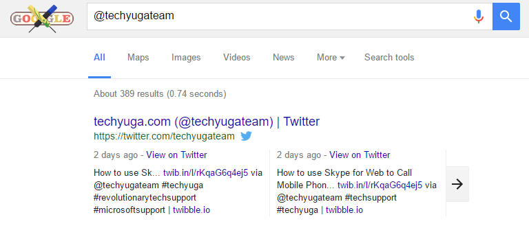 search social tags in google