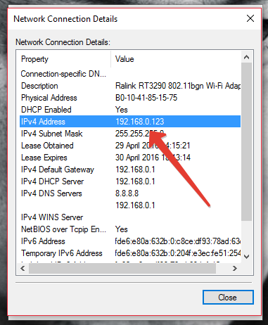 find your ip address in windows