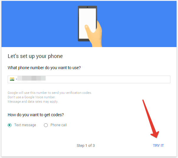 how to add phone number in google