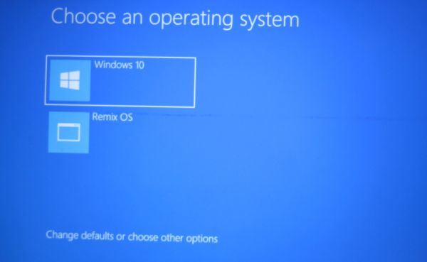 dual boot remix os and windows