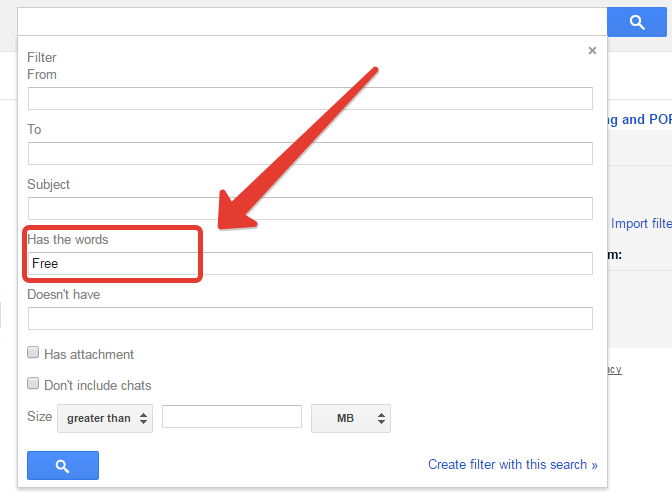 Creating labels in gmail for filter