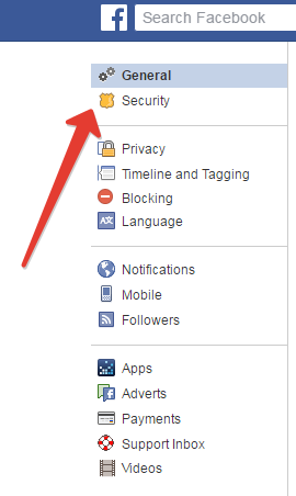 fb security settings