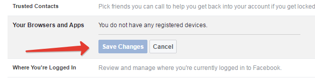Fb secured browsing option