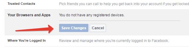 Fb secured browsing option