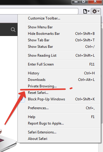 Safari private browsing