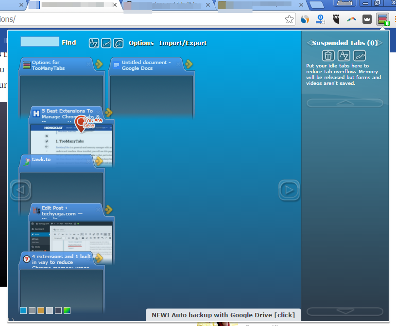 Too many tabs preview