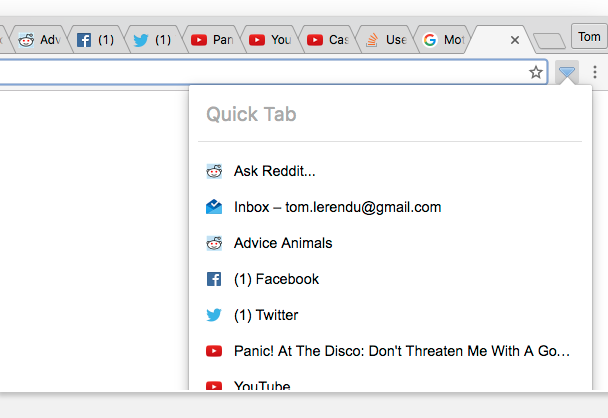 Quick tab extension