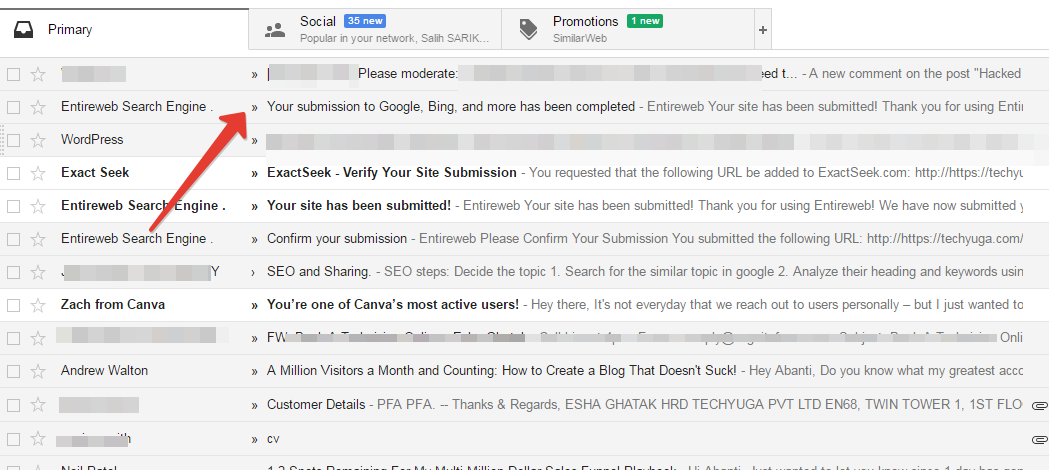 Personal level indicators in Gmail