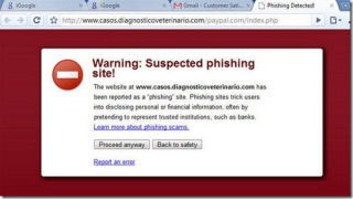 Chrome can detect phishing