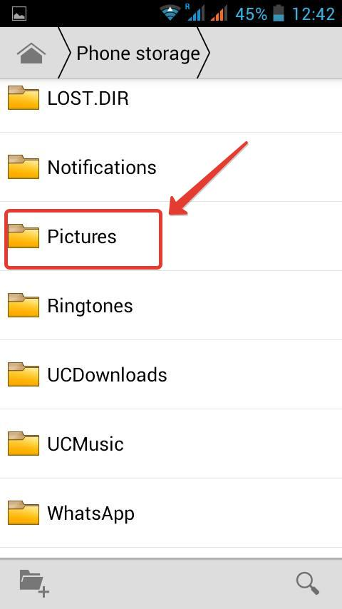 File manager in Android