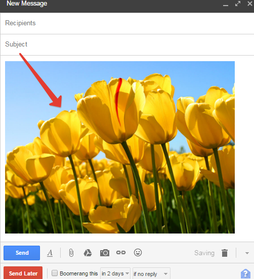 Drag and drop feature in gmail