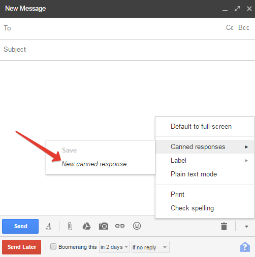 how to create canned response in gmail