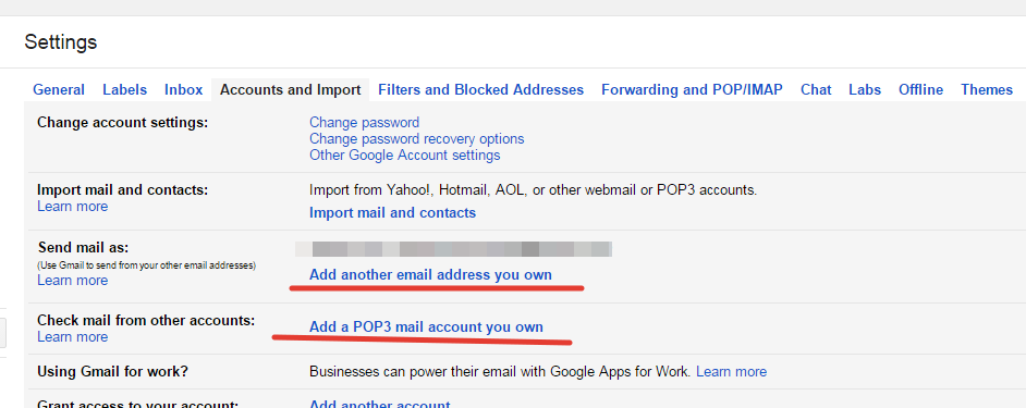 Adding pop3 accounts in gmail