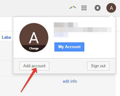 Adding another account in gmail
