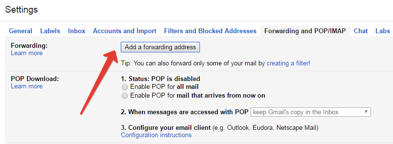 Email forwarding in gmail