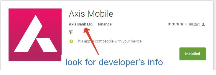 bank official app