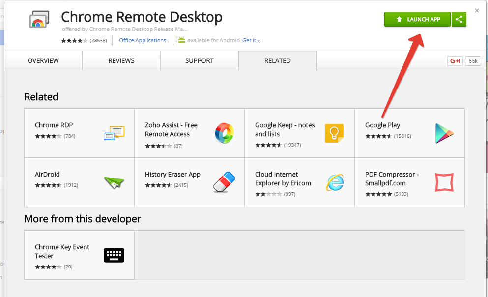 Remote desktop app for android