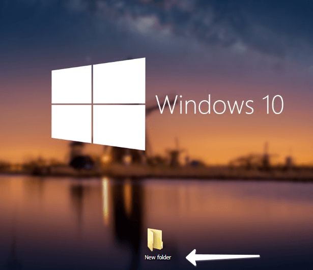 New folder in windows 10