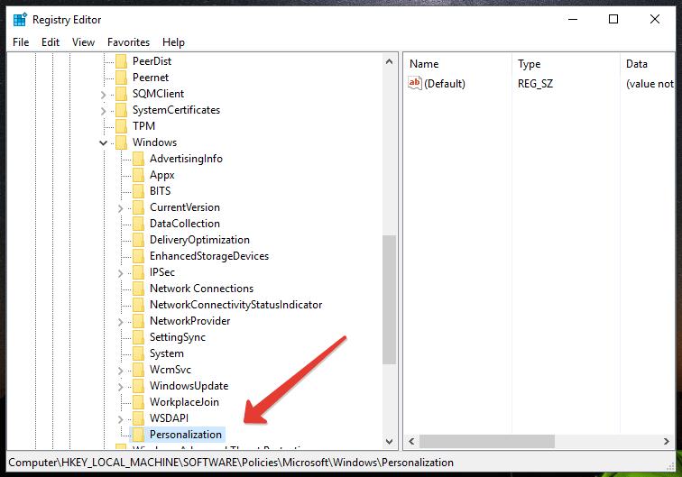 Personalize registry folder