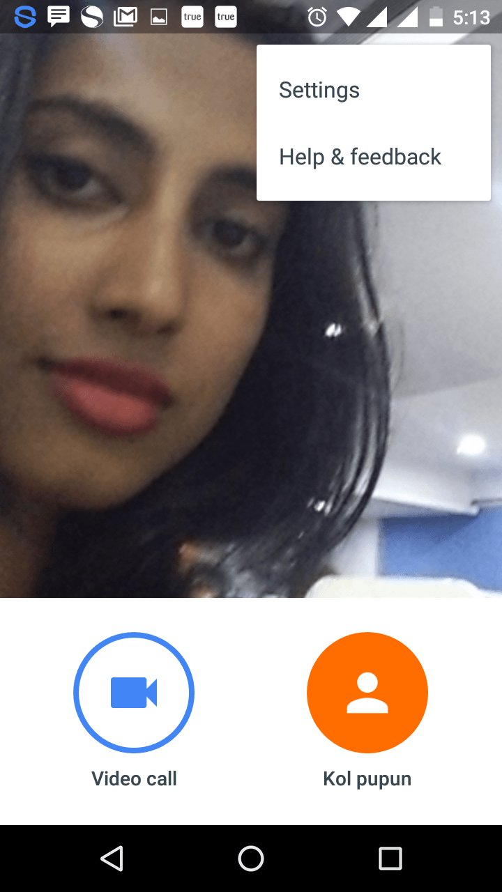 Video calling in google Duo App