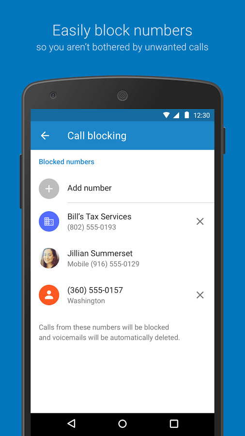 Block contacts in google Duo app