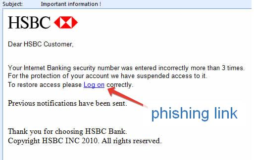 phishing email example