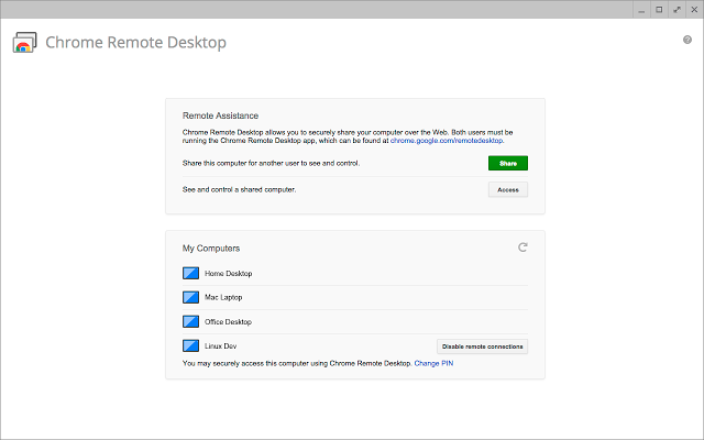Chrome sign in for remote desktop