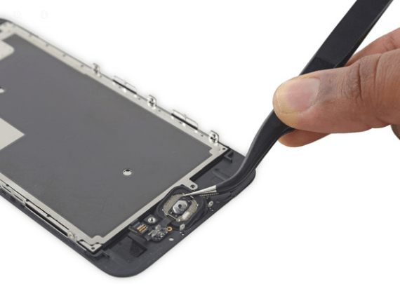 Removing home button assembly iPhone 6S