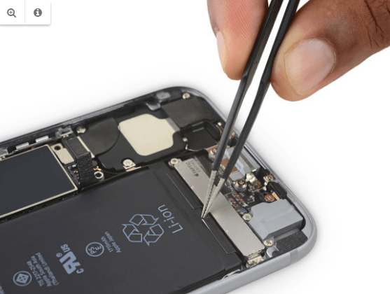 Removing battery adhesive iPhone 6S