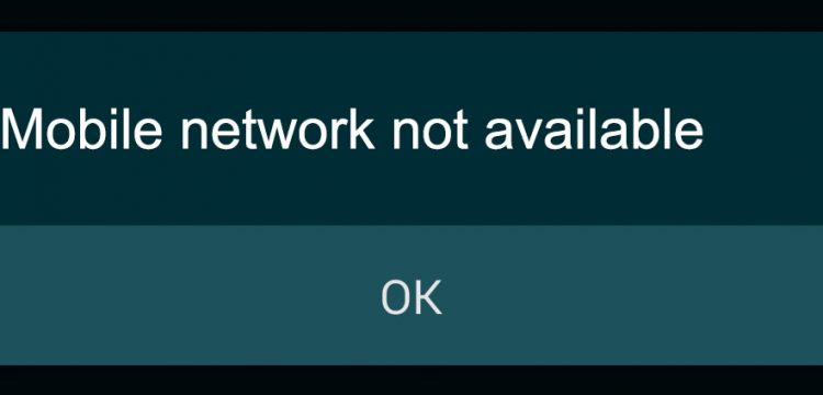 how to fix Mobile Network Not Available Error On Android