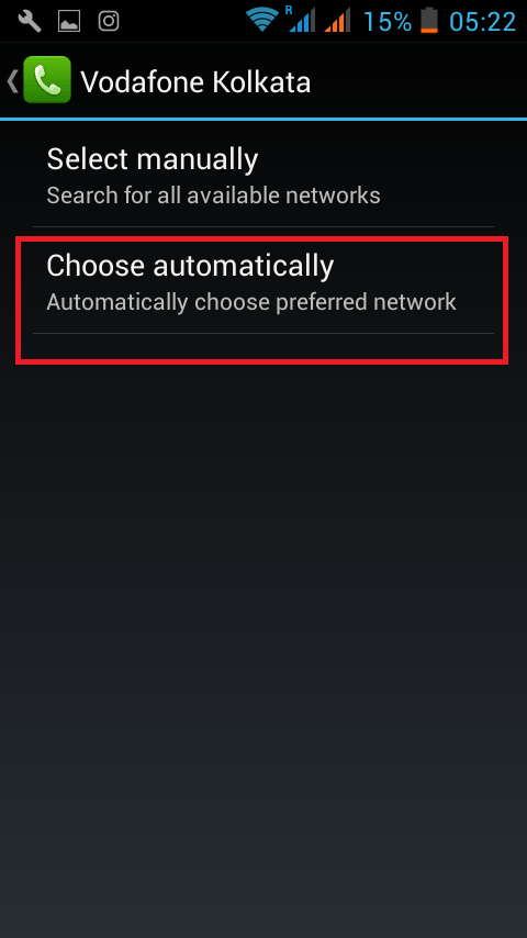 Choose automatically in android