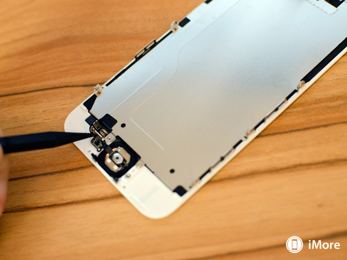 Removing cables from touch id iPhone 6