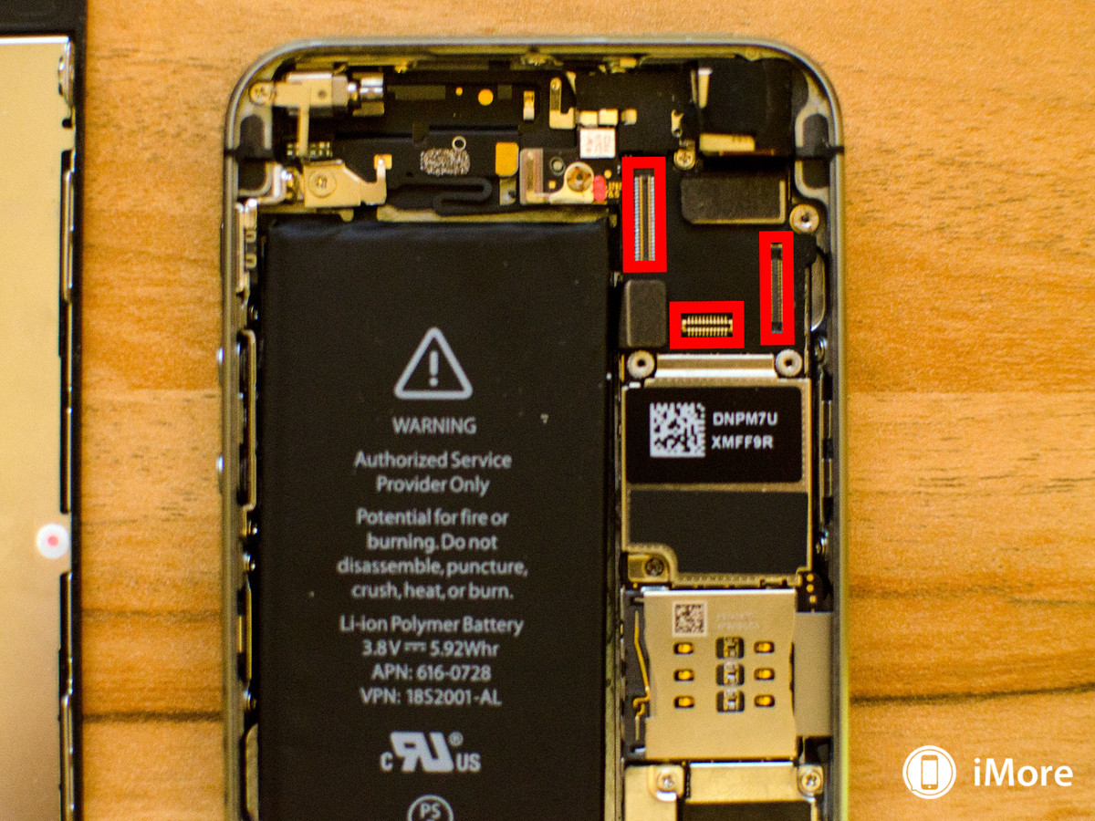 Reconnecting cables after battery replacement n iPhone 5S