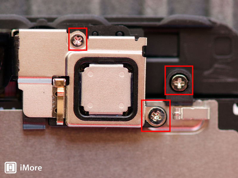 Removing screws from earpiece bracket iPhone 5s