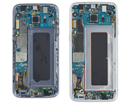 Samsung Galaxy S7 Edge teardown components