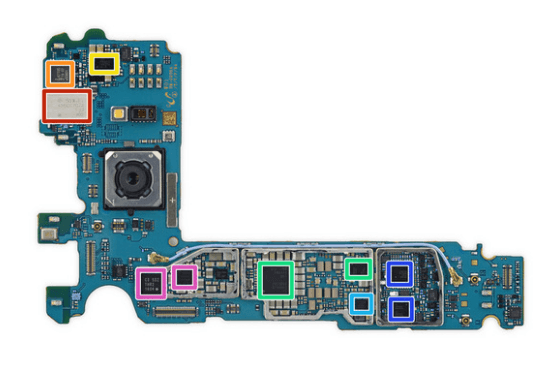 Samsung Galaxy S7 Edge motherboard back side