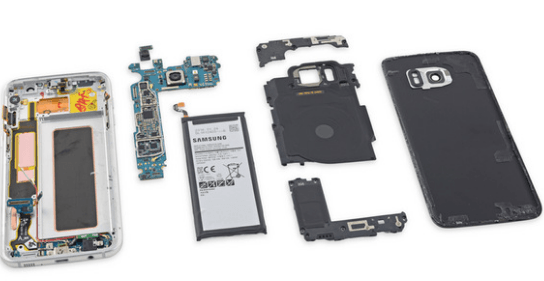 Samsung Galaxy S7 Edge tear down components